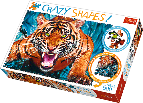 Crazy Shapes Puzzle - Támadó tigris
