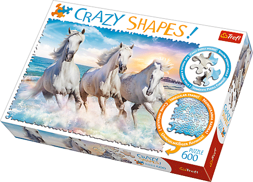 Crazy Shapes puzzle - Vágtató lovak