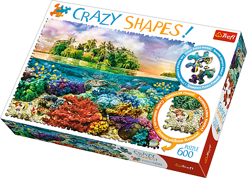 Crazy Shapes Puzzle - Trópusi sziget