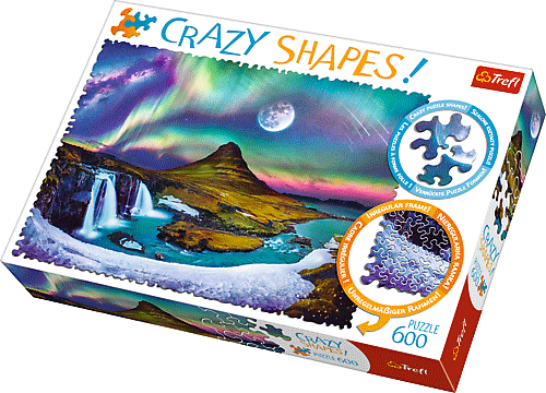 Crazy Shapes puzzle - Izlandi aurora